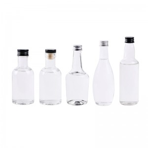 100ml wholesale mini spirit bottle in glasses for liquor