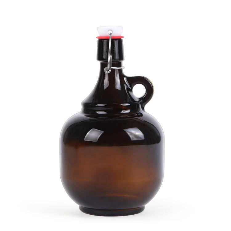 Swing top 2l amber beer growler glass bottle Featured Image