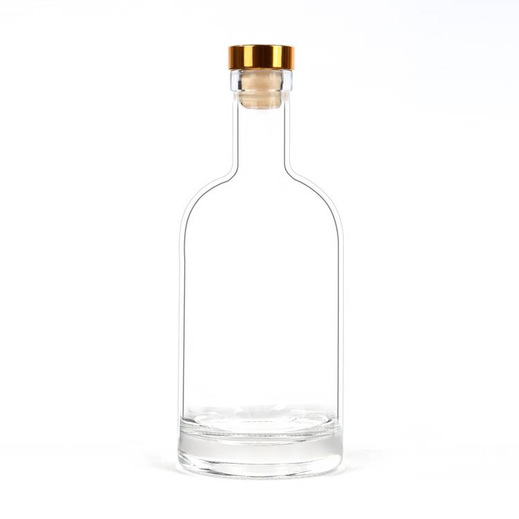 500 ml wholesale glass liquor wine vodka bottles with cap