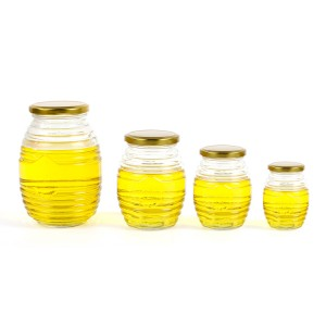 500g honey jar glass with tin lid