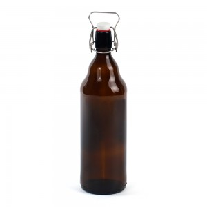 1L amber glass beer bottles
