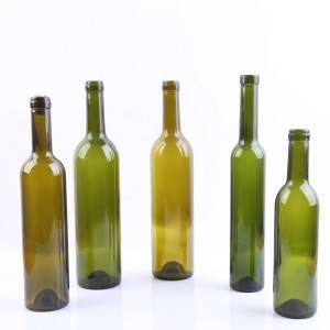 wholesale 750 ml colored glass red wine bottles