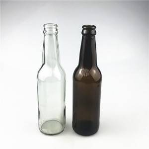 clear glass beer bottle supplier custom 330 beer glass bottles