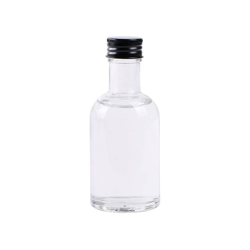 Small 100ml rum glass bottles whisky vodka gin glass bottle with screw cap