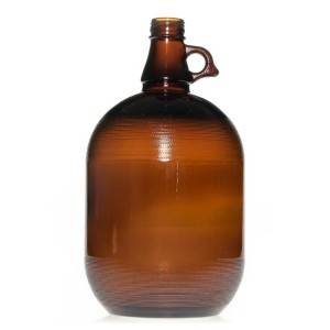 4L big growler amber glass beer bottle