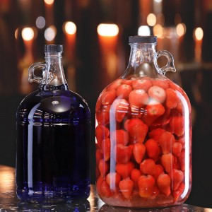 1L 2L 3L 4L 5L gallon glass wine bottles with plastic cap