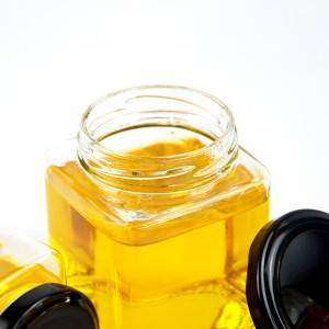 500ml empty glass honey jar with cap