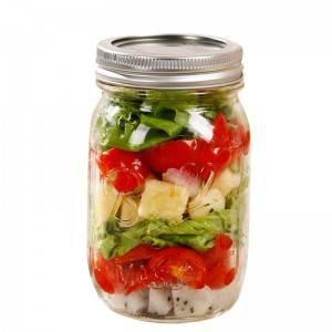 16oz fruit salad glass maosn food jar