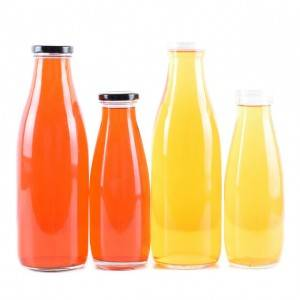 Wholesale empty glass milk bottles juice bottle
