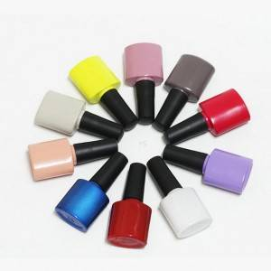 Flat Round Gel Polish Bottles 10ml Empty Custom Colored Gel Nail Polish Bottles Glass