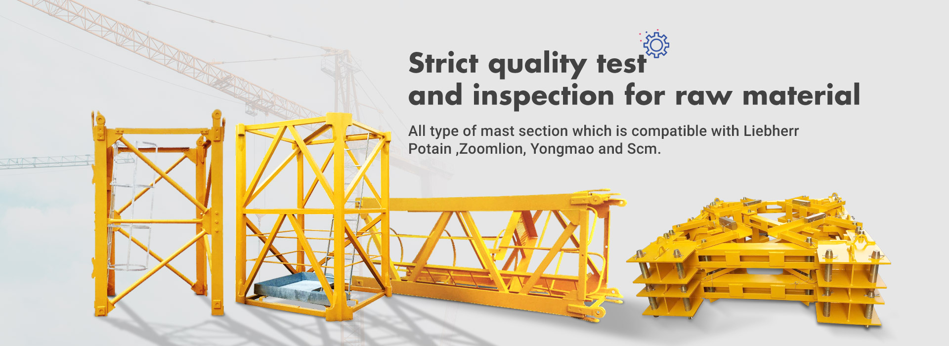 Strict quality test  and inspection for raw material
