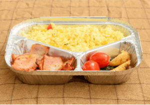 Rectangular Compartment Aluminum Foil Food Container