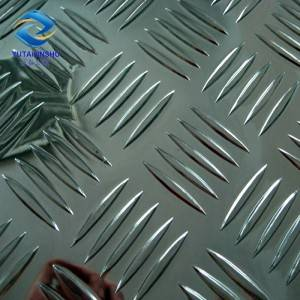 1050 H14 0.7mm-12mm thick aluminum checkered plate for decoration