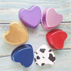 Food Grade Color Aluminum Foil Heart Shape Cup With Lid