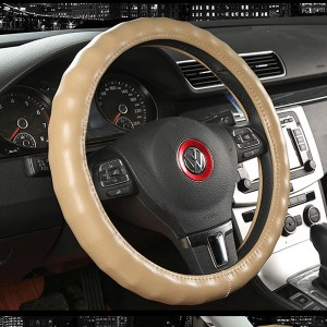 cowhide leather steering wheel cover