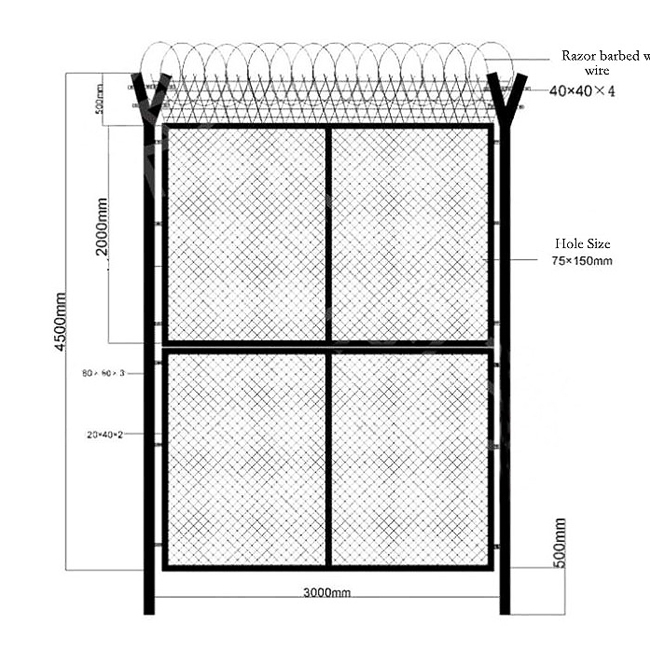 Factory Free sample Pool Security Fence - 358 fence top barbed wire – Yeson