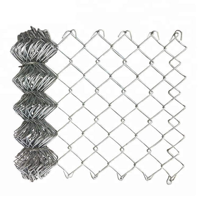 8 Year Exporter Chain Link Fence With Crank - Galvanized Chain Link Fence – Yeson