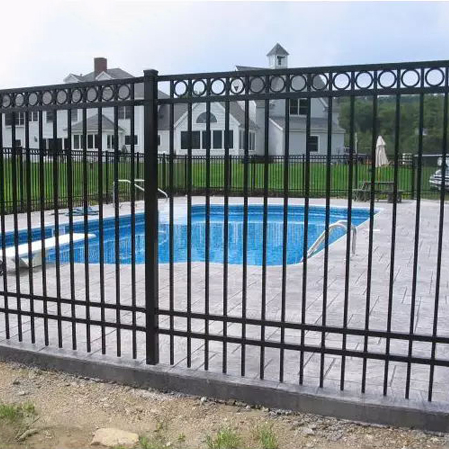 High Quality Wrought Iron Gate - flat top fence – Yeson