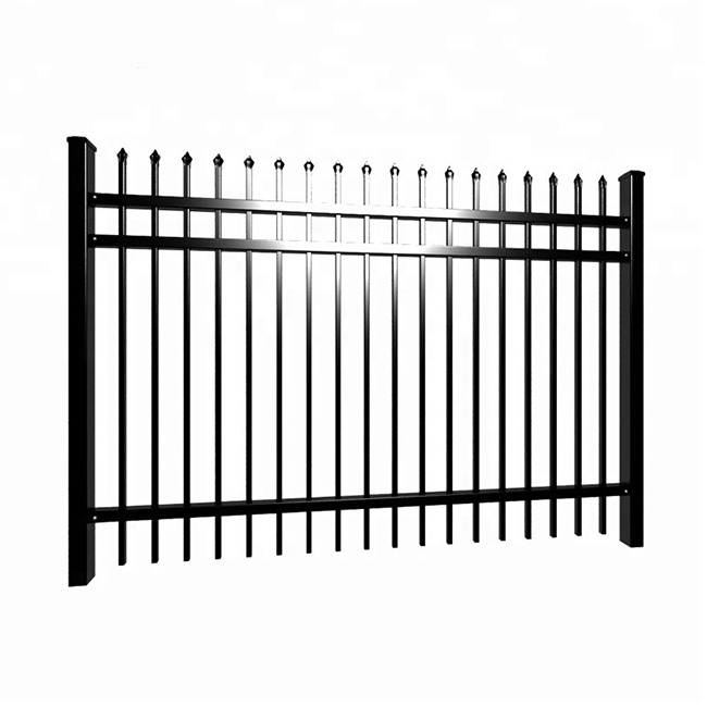 Chinese Professional Black Steel Fence - Wrought Iron Metal Fence – Yeson