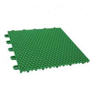 Outdoor Basketball Court Flooring With Weather Resistant PP Material