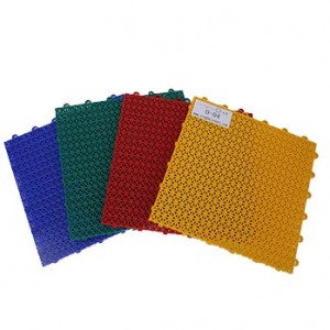 China Outdoor Tennis Court Flooring With Triangle Grid