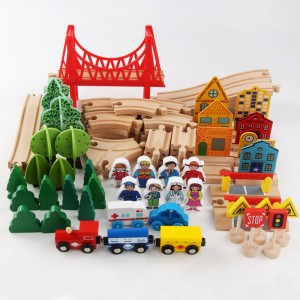 Best Selling 88pcs Wooden Train Tracks Toy Set Table Toy Children Educational Toys