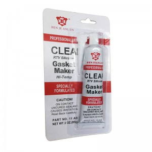 Professional Use Clear RTV Silicone Multi Function 85g Gasket Maker Specially Formulated for Sale