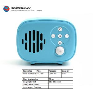 Speaker Bluetooth Portable nganggo Mikrofon & Radio Radio Bluetooth