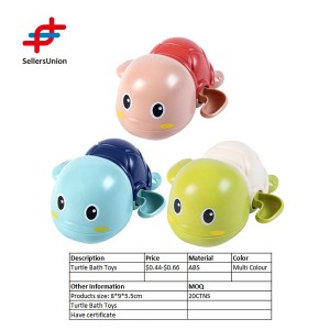 Turtle bath toys wind up diver bath toy swimming floating turtle for kids
