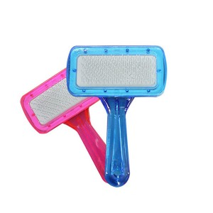 Promotional Pet Grooming Hair Self Clean Slicker Brush For Dog