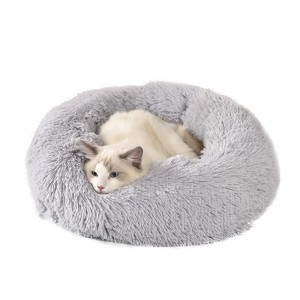 Washable Cute Soft Plush Donut Round Comfy Pet Cat Dog Sofa Bed