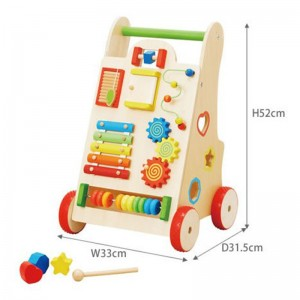 New Arrival Multifunctional Wooden Toddler Walking Toys Wood Baby Learning Walker Montessori Educational Toys for Sale