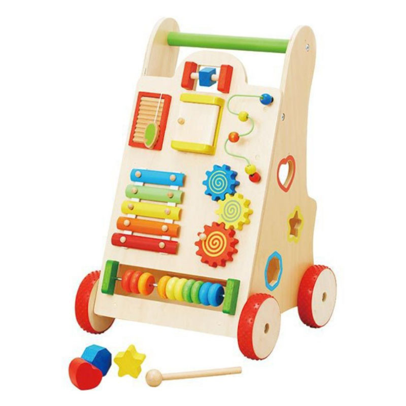 New Arrival Multifunctional Wooden Toddler Walking Toys Wood Baby Learning Walker Montessori Educational Toys for Sale Featured Image