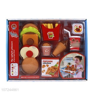 Play Food Toy Set for Kids Kitchen with Fast Food Burger Fries