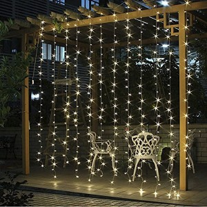 Curtain Bedroom Lights, 8 modes dancing music 300 LED USB Powered String Lights