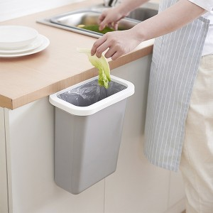 Wholesale Kitchen Cabinet Hanging Plastic Garbage Can Waste Bin With Fixed Ring