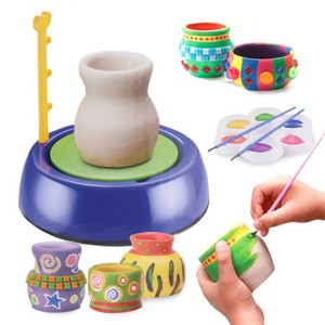 Hot selling pottery wheel DIY toy with clay for kids pottery wheel craft kit for kid