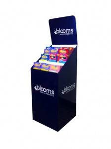 Cardboard Merchandising Display Dump Bins Cardboard Display Bin For Retail Display