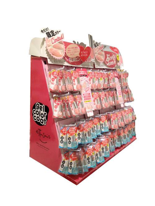 Socks Cardboard Pallet Display With Peg Hooks For Clothing Store