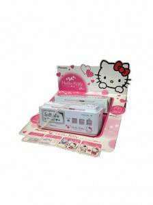 POP cardboard counter display with shelves for Hello kitty advertising