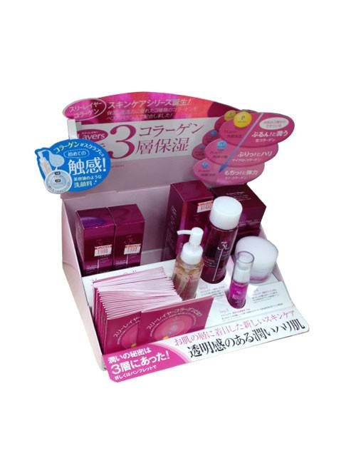 Paper Material Cardboard Paper Counter Display Stand for Hair Shampoo Featured Image