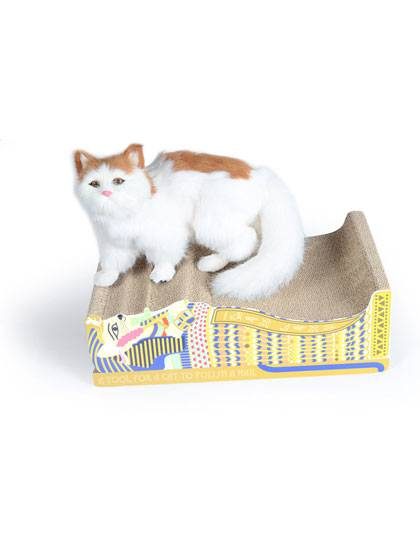 A flute Corrugated Cat Scratcher Featured Image