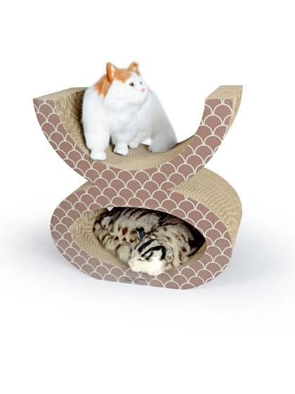 OEM/ODM Factory Cat Scratcher House With Toys -
