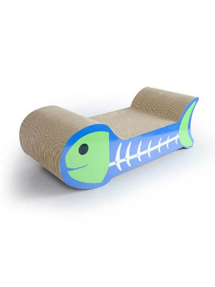 Fish Shaped Cat Scratcher detail pictures