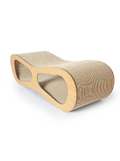 Wood Surface Cat Scratcher Cardboard