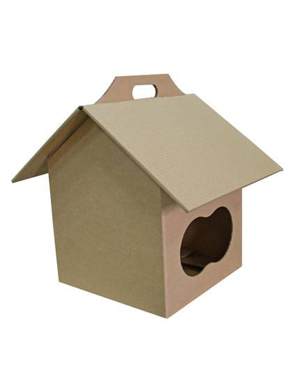 Folding corrugated Cat House
