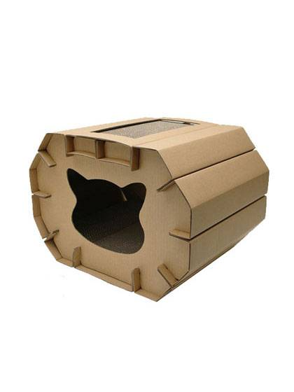 Luxury Cat House with Scratching Boards detail pictures