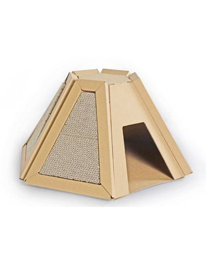 China OEM Bamboo Cat Scratcher -