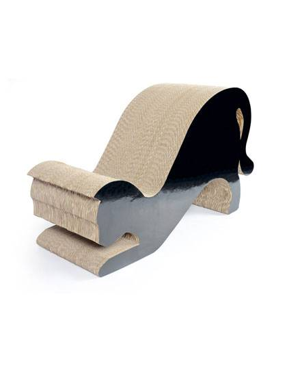 Black Cat Shaped Cat Scratcher