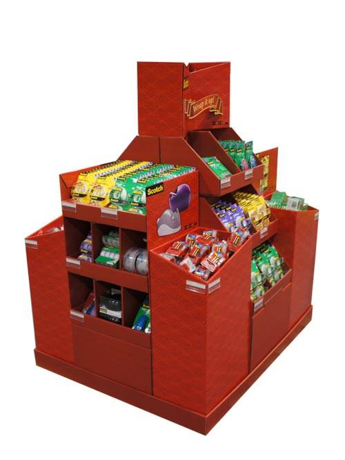 Food Pallet Displays (4 Way Tower)